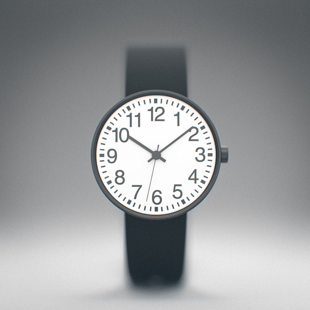 Muji Round Face Watch Front
