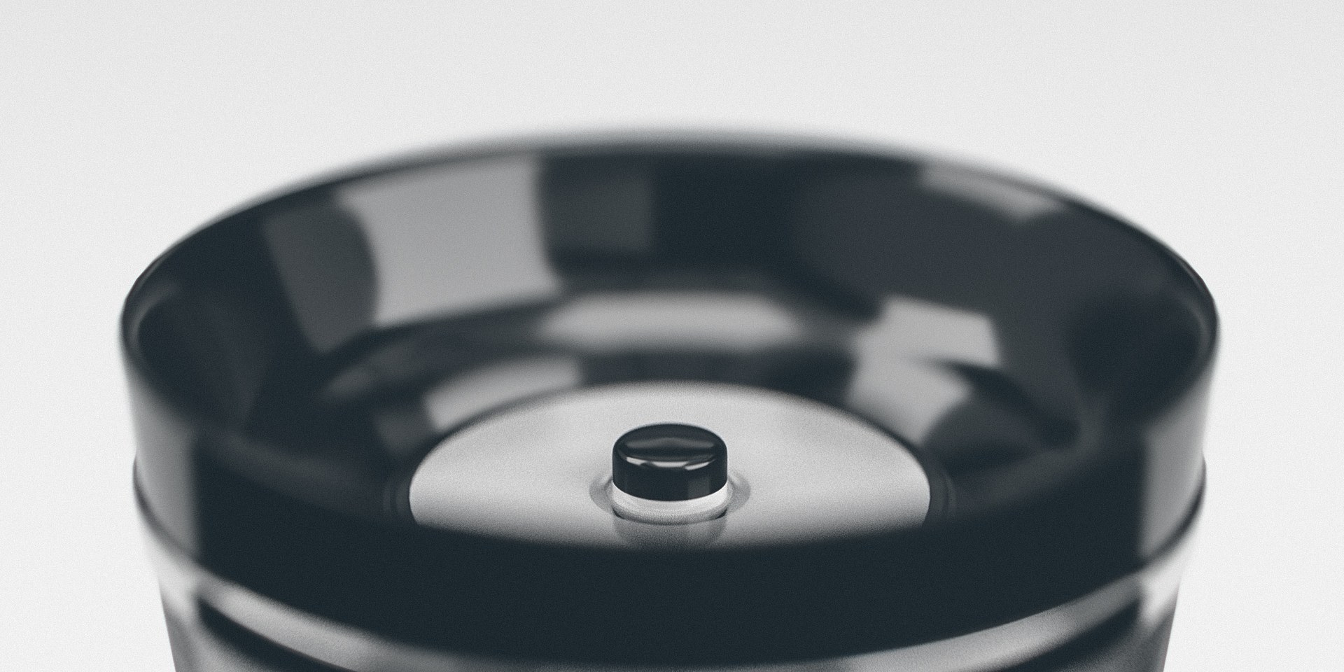 Thermos Discovery Button Close-up Render