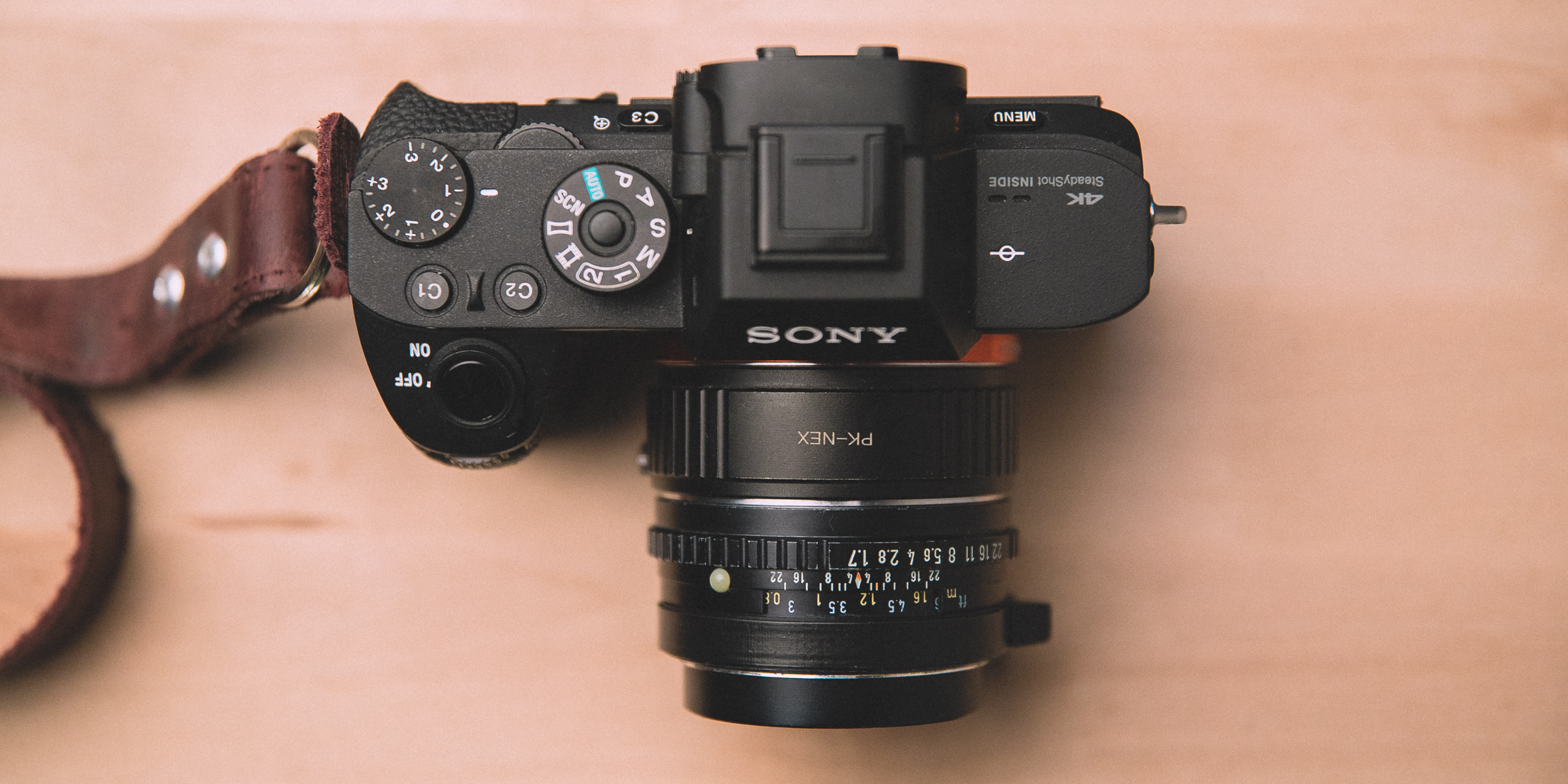SONY A7 R2 Top view