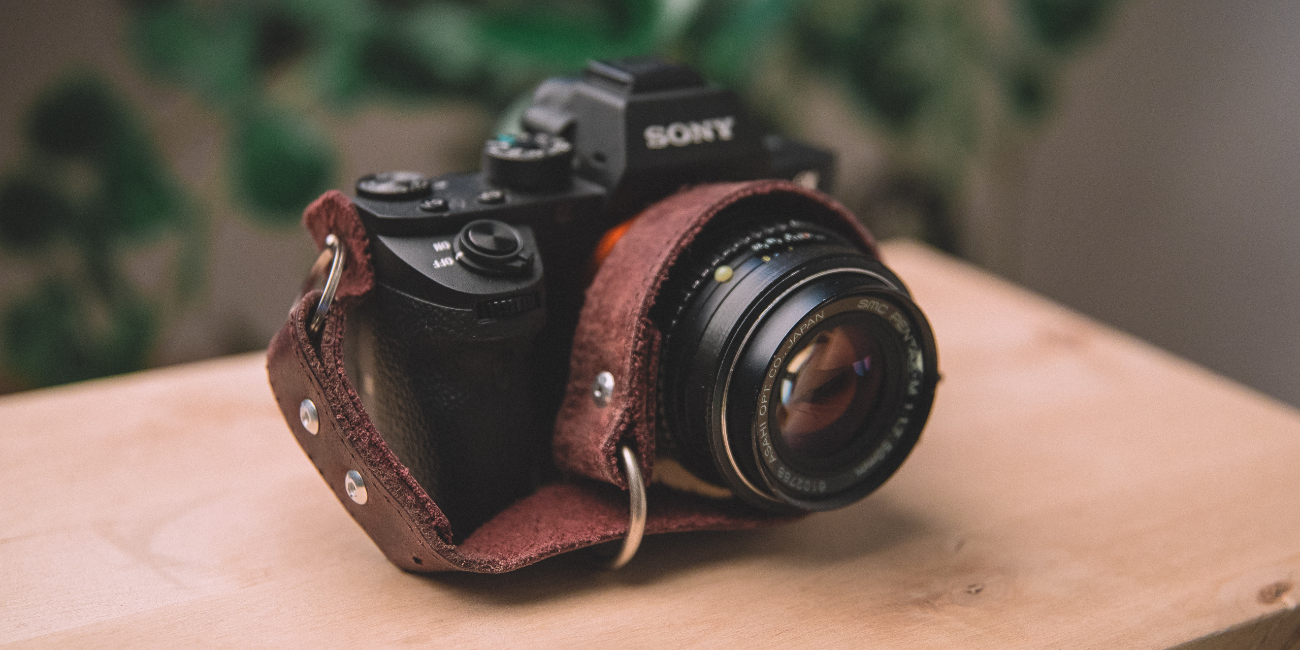 Sony A7RII Leather strap, SMC Pentax