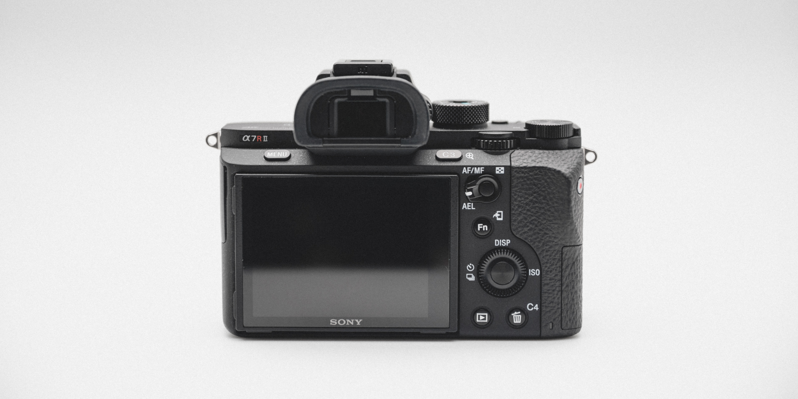SONY A7RII back, LCD screen