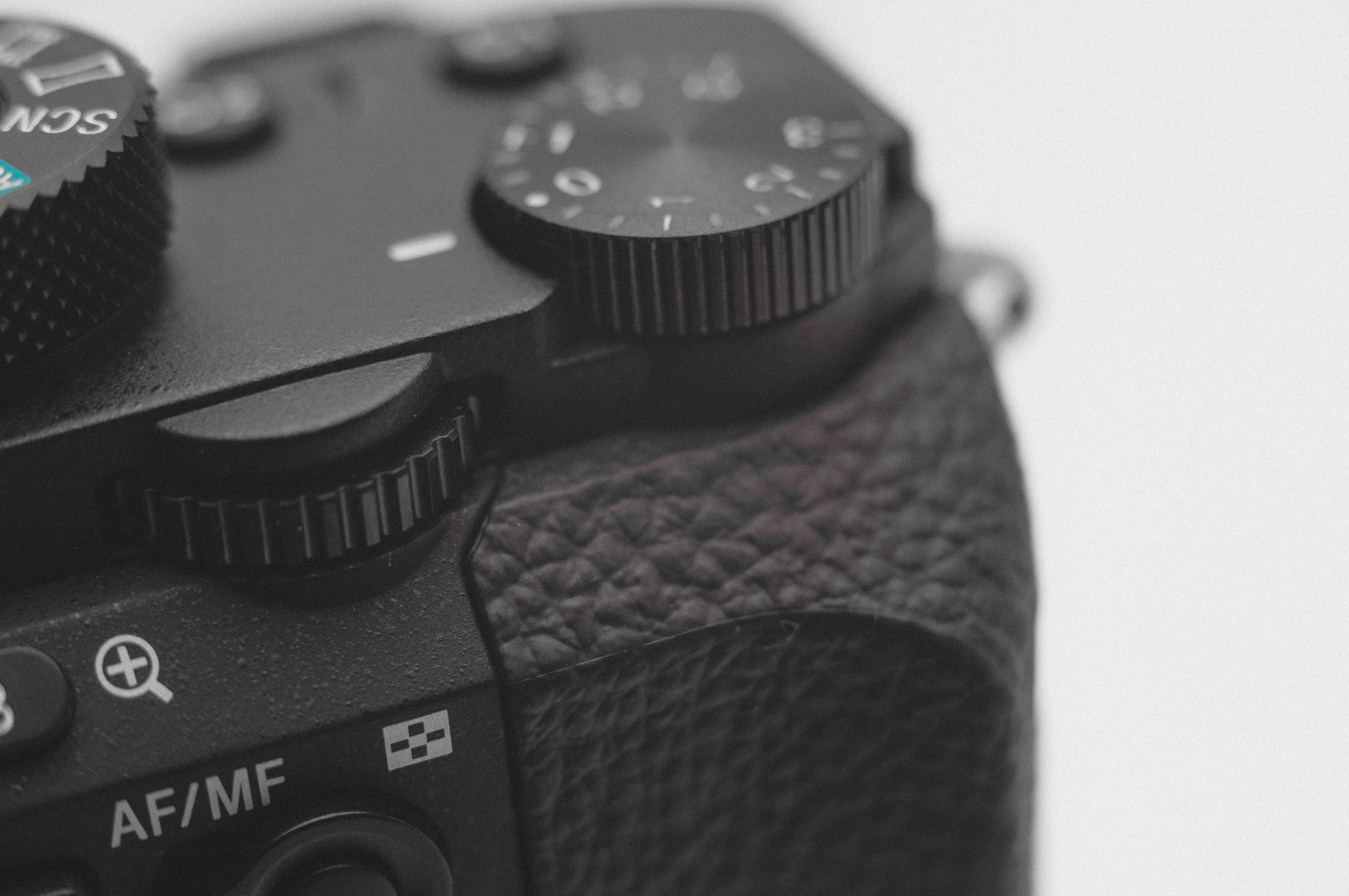 SONY A7R2 dial close-up